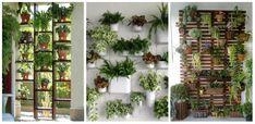 Nézd, hogyan találhatsz helyet a növényeknek ha kicsi az otthonod! Ladder Decor, Outdoor Structures, Garden, Home Decor, Cover, Gatos, Vertical Gardens, Blue Prints, Plant