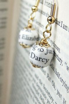 Elizabeth and Mr. Darcy earrings for every bridesmaid.   19 Gorgeous Things Every Book Lover Needs For Their Wedding