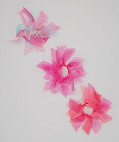 Another great find on #zulily! Pink Chiffon Hair Tie Set by Picki Nicki Hair Bowtique #zulilyfinds