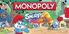 The Smurfs Collector's Edition Monopoly Board Game by USAopoly