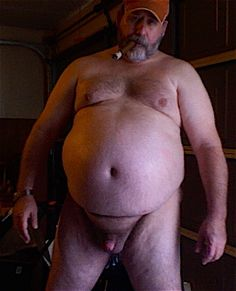 fat naked Older man