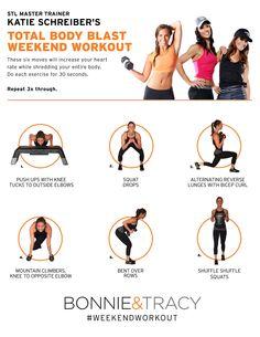 Total Body Blast Weekend Workout from STL Master Trainer Katie Schreiber!