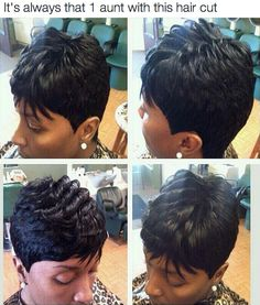 Everyone has one aunt with this haircut