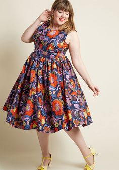 2e458429d3de Fabulous Fit and Flare Dress with Pockets in Navy | ModCloth Fit Flare Dress,  Fit