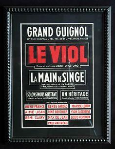 Le viol au théâtre du Grand Guignol (affiche)