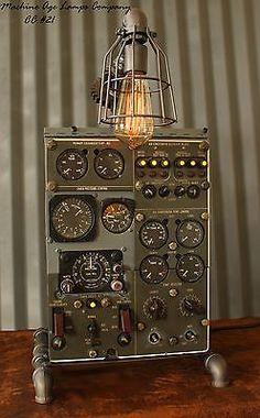 Steampunk Machine Age Aviation Lamp Instrument Control Panel Industrial Art - I LOVE THIS STUFF SOOOOO MUCH