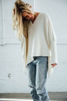 Layer Me Pullover Sweater - Ivory