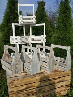 Garden Basket, Wood Basket, Barn Wood Projects, Wooden Crafts, Flower Boxes, Craft Storage, Wood Boxes, Box Design, Crafts To Do