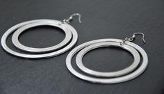 aluminium earrings handmade by AluminiumJewelry on Etsy https://www.etsy.com/listing/175150194/aluminium-earrings-handmade