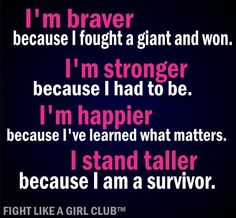 I fight like a girl and as am proud of it!