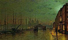 Atkinson Grimshaw: Princes Dock Hull