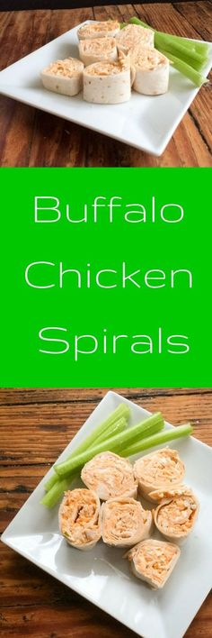 Buffalo Spirals will be the next favorite appetizer at your tailgate or party.  The hot and spicy flavors of Buffalo Chicken dip are now wrapped into tortillas and served as a cold appetizer.  This Buffalo spirals recipe takes just a few minutes to make a