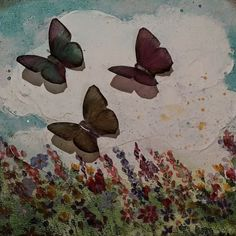 Mixed Media Canvas by Erica at Cottage Chic Interiors www.cottagechicinteriors.ie