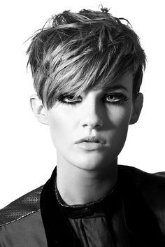 short brown straight messy choppy Womens haircut office hairstyles for women