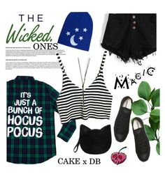 """Cake x DB: The Wicked Ones"" by maria-maldonado ❤ liked on Polyvore featuring American Eagle Outfitters, Converse, Forever 21, Charlotte Russe, contestentry and wickeddisneybound"