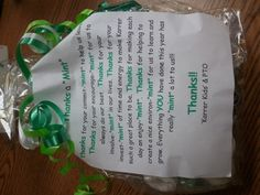 Great teacher appreciation gift filled with all different types of mints...don't forget chocolate covered mints!