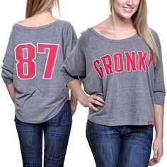 Sportiqe Apparel New England Patriots Ladies Marshall Fashion Tri-Blend T-Shirt - Gray