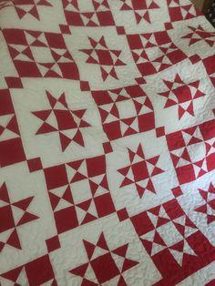 Star Quilt Blocks, Star Quilt Patterns, Star Quilts, Embroidery Patterns, Barn Quilt Designs, Quilting Designs, Antique Quilts, Vintage Quilts, Vintage Star
