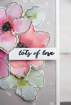 Sending Lots of Love + Shopping Spree Winner announced! Hibiscus Bouquet, Leaf Outline, Altenew Cards, Alcohol Ink Art, Ceramic Flowers, Unique Cards, Rubber Stamping, Watercolor Cards, Shopping Spree