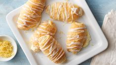 These crescent roll-ups are bursting with that tart flavor lemon lovers love! The creamy cheesecake filling is a delicious addition for that perfect balance between sweet and citrus-y.