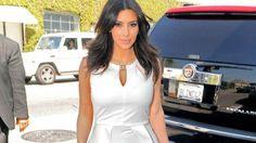 Kim Kardashian had an awkward encounter with her ex-boyfriend Reggie Bush and his new fiancée Lilit Avagyan in West Hollywood on Monday (© 1...