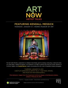 ART NOW Artist Talks w/ #KendallMessick at the #MorrisMuseumofArt