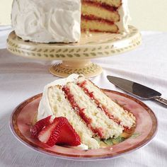 One of spring's beloved combinations is strawberries and rhubarb. Both are highlighted in this gorgeous, delicious Strawberry Rhubarb Layer Cake.