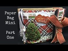 In this video I show you how to make a super simple paper bag mini album. It's…