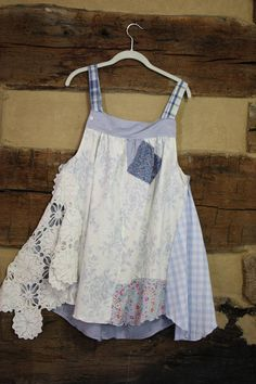 Womens Tunic Top Upcycled Hippie Clothes Shabby Boho Chic #upcycle #greenfashion #handmadewithlove #incenseandpeppermints #inspiration #handmadeclothing #festivalfashion #hippiefashion #hippiesoul