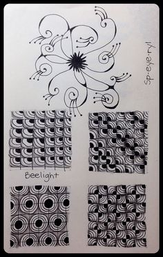 Tangle Pattern : Beelight & Sp-eye-ryl Practice Page by ha! designs