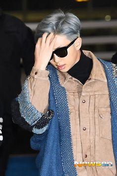 Kim Namjoon, Rapmon, Daddy Quotes, Bts Rap Monster, Korean Bands, Airport Style, Airport Fashion, Korean Men, Namjin
