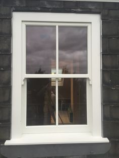 Timber sash window installation in Highgate, north London – Enfield Windows – Home decoration ideas and garde ideas Sash Windows London, Upvc Sash Windows, Front Doors With Windows, Casement Windows, Cottage Windows, House Windows, Victorian Windows, Conservatory Design, Window Styles