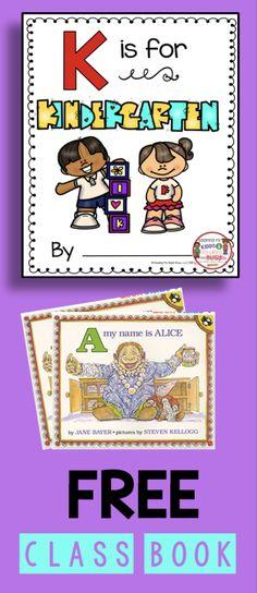 FREEBIE - Kindergarten Class Book - First week of kindergarten lesson plans - back to school #kindergarten #backtoschool #firstdayofkindergarten