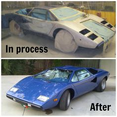 LP400 Before and After Restoration