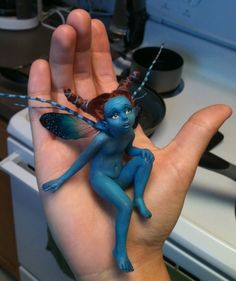 Polymer Clay Fairies | POLYMER CLAY ART DOLLS 2 / Little Blue Fairy by FooFootheSnoo ...