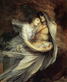 """George Frederic Watts (1817 - 1904), """"Paolo and Francesca"""", c.1872-1884"""