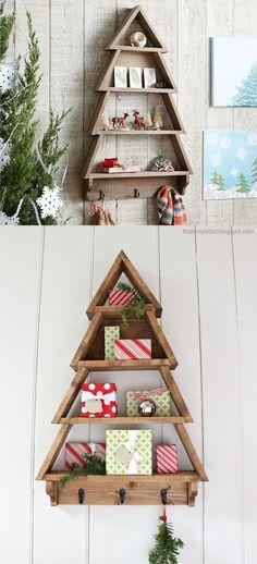 Ingeniosa estantería navideña