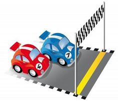 Illustration of Two funny race cars on race track with finish line and checkered flag vector art, clipart and stock vectors. Snowboard Equipment, Sport Craft, Adding And Subtracting, Checkered Flag, Social Determinants Of Health, Flag Vector, Listening Skills, Finish Line, Critical Thinking