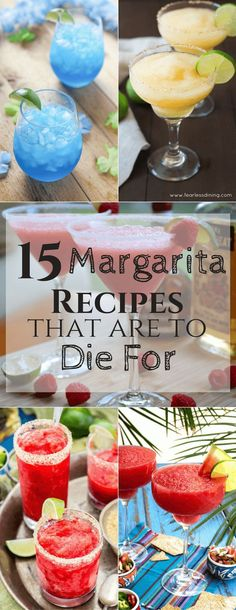 Inspiration for this margarita round up came from the upcoming Cinco de Mayo that is around the corner! I love any excuse to eat Mexican food and drink a frozen margarita! Party Drinks, Cocktail Drinks, Fun Drinks, Cocktail Recipes, Cocktail Desserts, Bourbon Drinks, Fun Cocktails, Drink Recipes, Beste Cocktails
