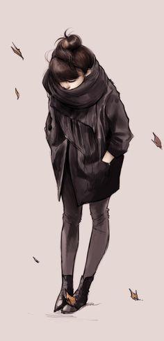 """'Autumn Girl' by Ninjatic """"Sembrava l'inizio di una qualche felicità. Poi si sa come vanno le cose: scivolano sempre, impercettibili, non c'è verso di fermarle, se ne vanno, semplicemente se ne vanno, hai un bel cercare di fermarle: se ne vanno."""" (A. Baricco)"""