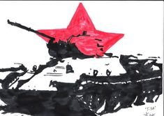 A T-34 tank artwork. I work under the name Jo.