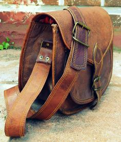 Rustic Leather Purse Leather Crossbody Bag Leather Handbag for Women on Etsy, $29.00