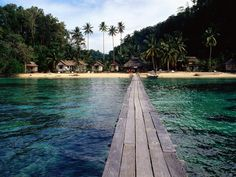 Main Port of Wakai - Togean Islands.Indonesia