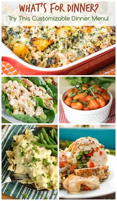 Asking yourself what's for dinner? My weekly meal plans full of easy dinner recipes are the answer! This customizable menu is updated weekly and includes a grocery list builder. Dinner just got a whole lot easier!