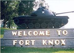I actually spent six weeks at Fort Knox, Kentucky, one summer participating in ROTC Basic Camp while in college. I decided one officer in the family was enough but I had some great experiences!