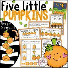 Pumpkin Activities (Five Little Pumpkins Activities)
