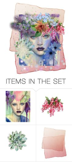 """""""Flora"""" by jbeb ❤ liked on Polyvore featuring art"""
