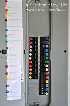 Organizing and color coding the breaker box! Awesome idea from First Home Love Life