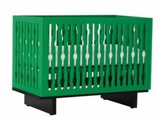 Paint the crib and bunkbed in a fun green color like this.  (Beds not this style)
