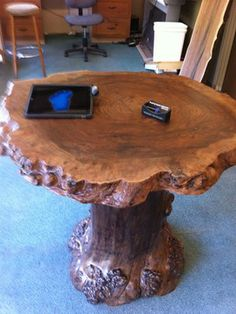 Live Edge Furniture rustic side tables and accent tables